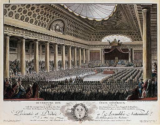 Ouverture des états généraux à Versailles, le 5 mai 1789