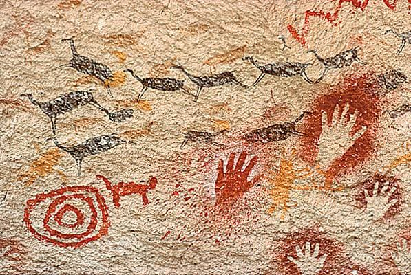 Peintures rupestres de Perito Moreno, en Patagonie