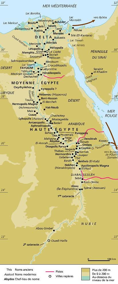 Super Encyclopédie Larousse en ligne - Égypte : histoire de l'Égypte  QC03