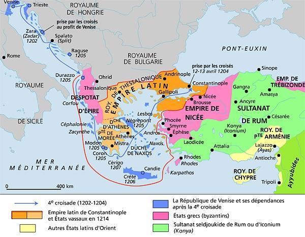 HISTOIRE ABRÉGÉE DE L'ÉGLISE - PAR M. LHOMOND – France - 1818 - DEUXIEME PARTIE ( Images et Cartes) 1011214-La_quatri%C3%A8me_croisade