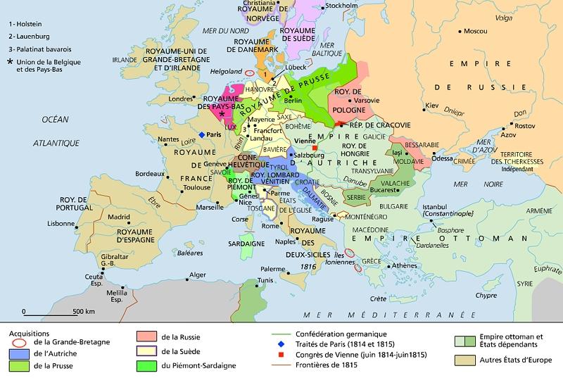 L Europe du congrès de Vienne
