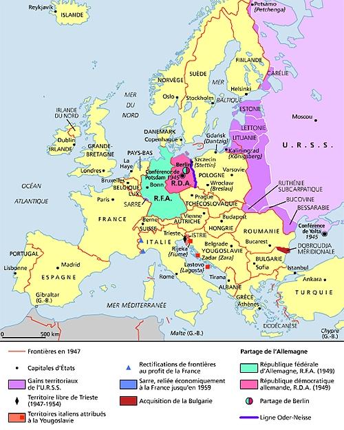 Carte Allemagne Apres Guerre.Encyclopedie Larousse En Ligne Seconde Guerre Mondiale