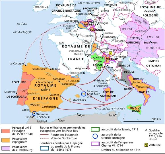 carte espagne 1600