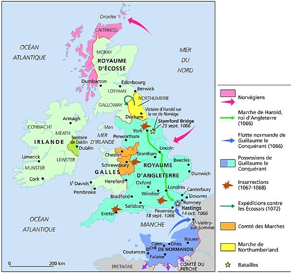 La conquête de l'Angleterre par les Normands