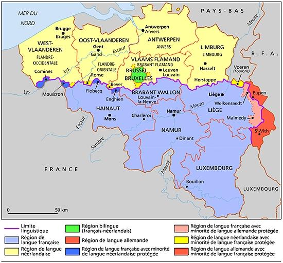 Carte Wallonie Flandre.Encyclopedie Larousse En Ligne Belgique En Neerlandais