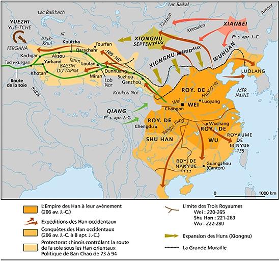 Carte Chine Ming.Encyclopedie Larousse En Ligne Chine Histoire