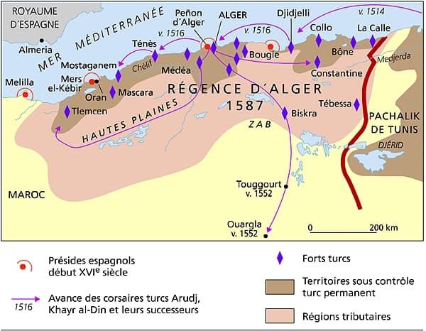 Carte Geographique De Lalgerie.Encyclopedie Larousse En Ligne Algerie Geographie Physique
