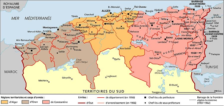Carte Geographique De Lalgerie.Encyclopedie Larousse En Ligne Algerie Histoire