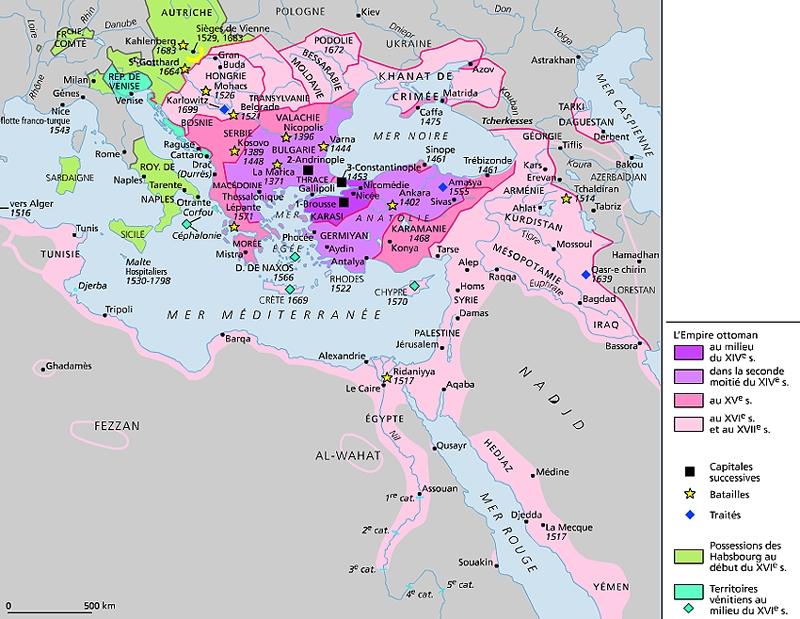 Encyclop die larousse en ligne empire ottoman - La carte de l empire ottoman ...