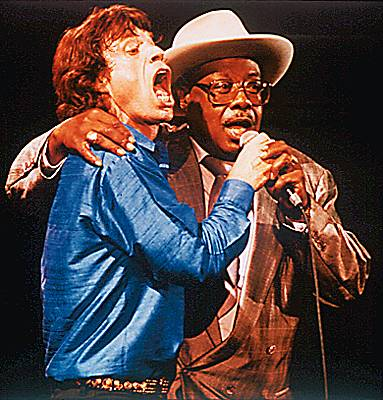 Mick Jagger et Jimmy Rogers