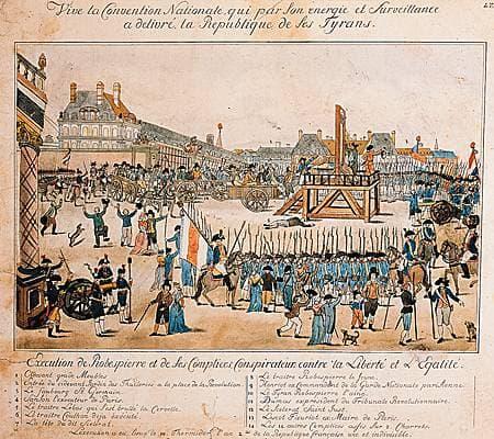 Exécution de Robespierre, Saint-Just, Couthon et Dumas