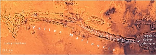 Valles Marineris, la plus grande structure tectonique de Mars