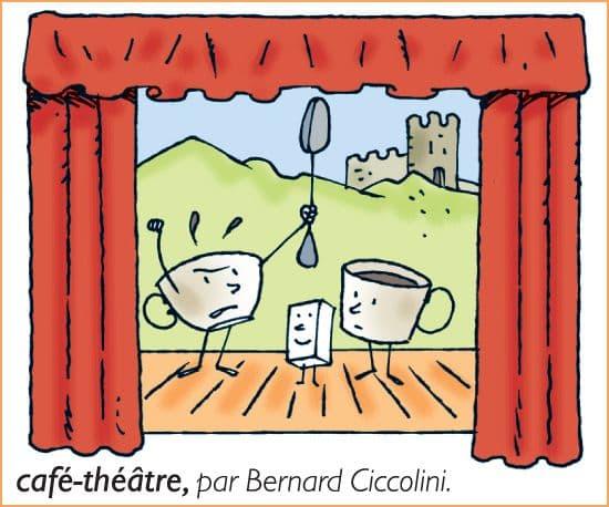 Encyclop die larousse en ligne caf th tre par bernard - Dessin de theatre ...