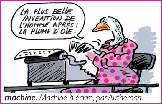 Machine à écrire, par Autheman