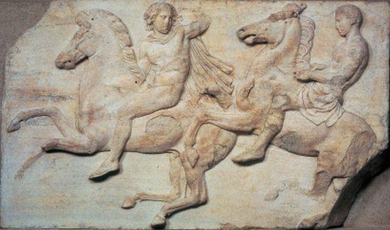 Phidias, Friez de Parthenon