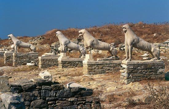Delos, la terraza de los leones