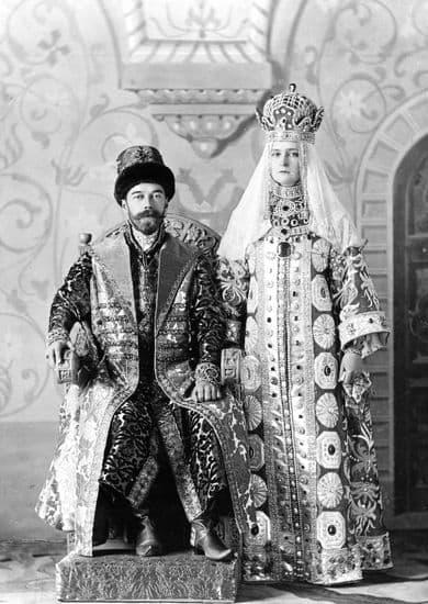 Nicolas II et la tsarine Alexandra Fedorovna