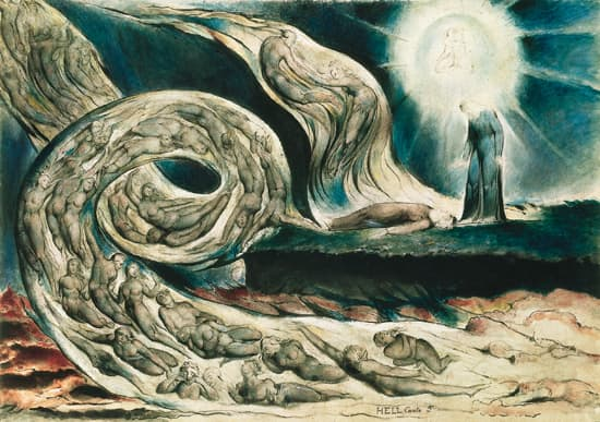 William Blake, <i>le Cercle des luxurieux</i>