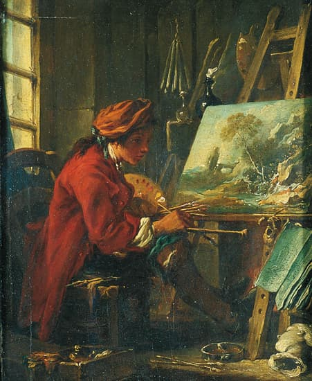 Encyclop die larousse en ligne fran ois boucher le for Artiste peintre anglais