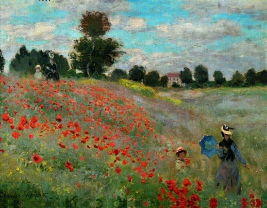 Monet- tableaux  1311059-Claude_Monet_les_Coquelicots
