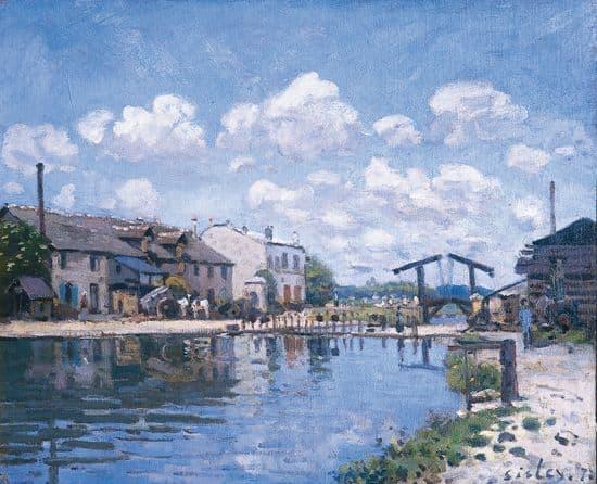 Alfred Sisley, el canal de Saint-Martin, París