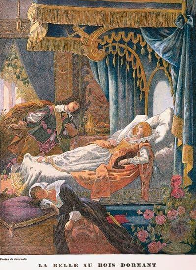 les enfants Gustave Doré, illustration pour le Petit Chaperon rouge ~ Illustration La Belle Au Bois Dormant