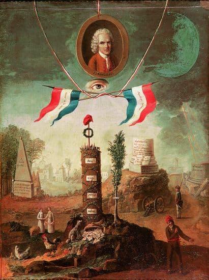 Allégorie révolutionnaire en l'honneur de Jean-Jacques Rousseau
