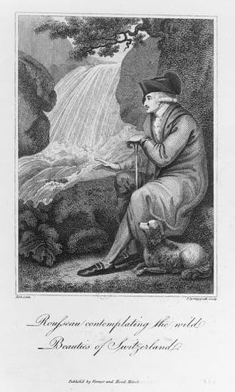 Rousseau contemplant la beauté sauvage de la Suisse