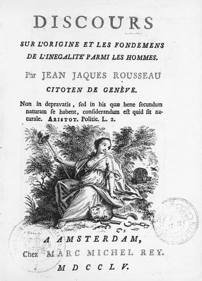 Jean-Jacques Rousseau, Discours sur l'origine et les fondements de l'inégalité parmi les hommes