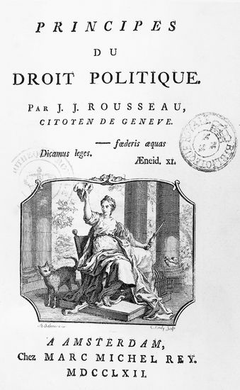 Contrat social ou Principes de droit politique - Jean-Jacques Rousseau