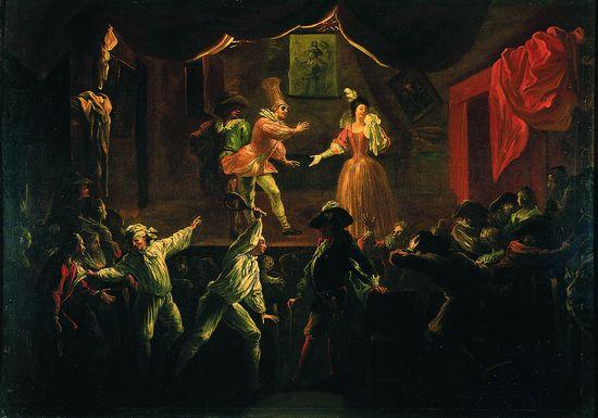 Encyclop die larousse en ligne histoire du th tre for Une farce au theatre