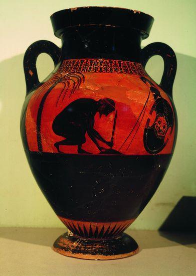 Exékias, Figuras negras Amphora