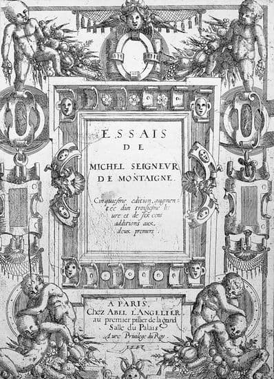 selection from the essay of montaigne The essays: a selection by michel de montaigne - a survey of one of the giants of renaissance thought, the essays: a selection collects some of michel de montaigne's most startling and original works, translated.