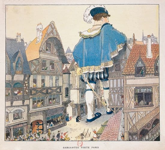François Rabelais, i Vie inestimable du Grand Gargantua /i : Gargantua visite Paris