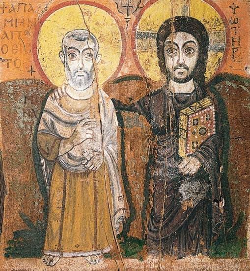 Le Christ et saint Menas