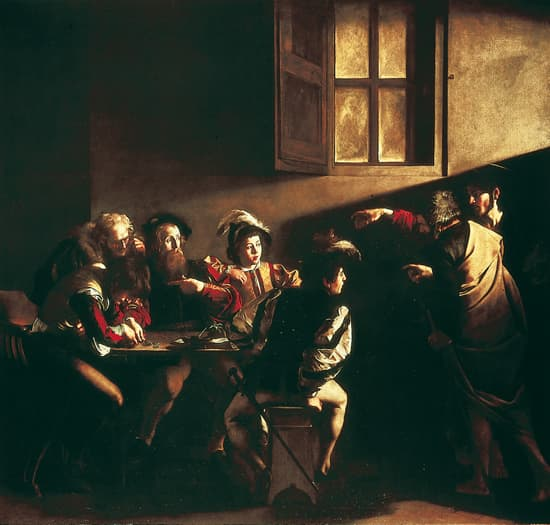 Le Caravage, la Vocation de saint Matthieu