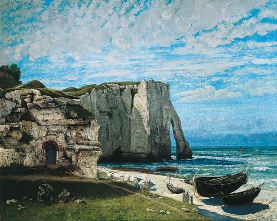 Gustave Courbet, i la Falaise d Étretat après l orage /i