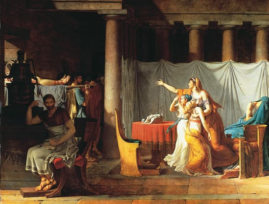 Louis David, Les licteurs rapportent à Brutus les corps de ses fils