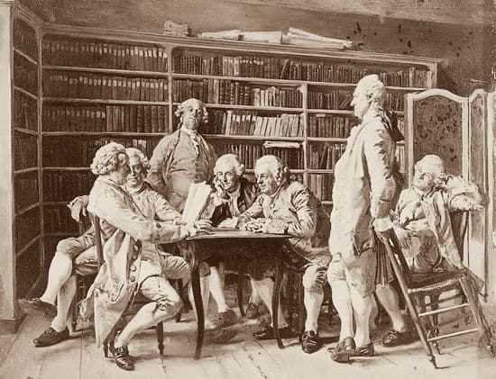 Jean-Louis Ernest Meissonier, <i>Lecture chez Diderot</i>