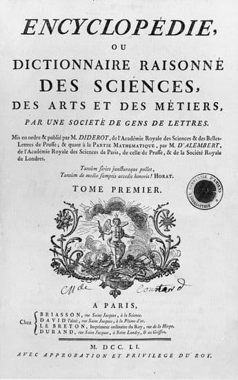 Page de titre de l'Encyclopédie