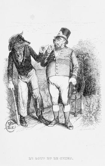 Jean de La Fontaine, <i>le Loup et le Chien</i>