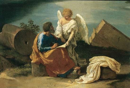 Nicolas Poussin, <i>Paysage avec saint Mathieu et l'ange</i>