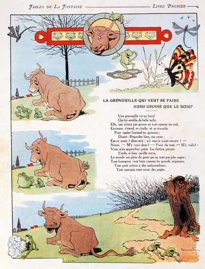 Jean de La Fontaine, <i>La grenouille qui veut se faire aussi grosse que le bœuf</i>