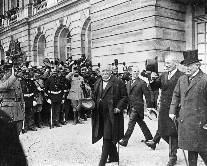 Georges Clemenceau, Thomas Woodrow Wilson et Llyod George