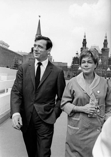 Yves Montand et Simone Signoret
