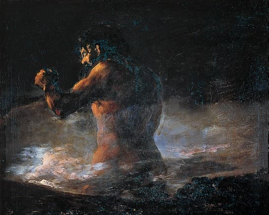Francisco de Goya, Le Colosse ou la Panique, détail