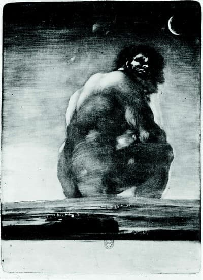 Francisco de Goya,  Le Colosse