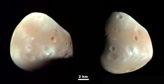Deimos, satellite naturel de Mars