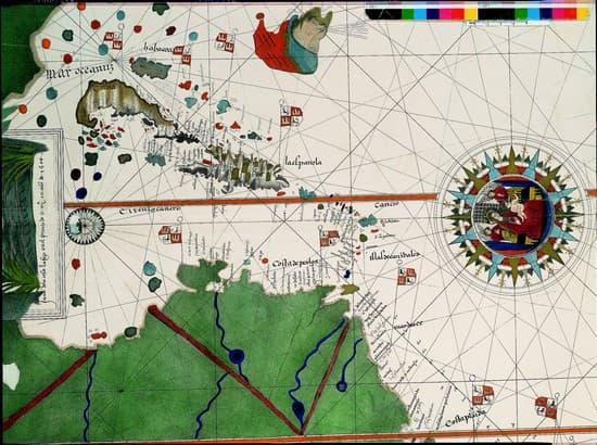 Encyclopédie Larousse en ligne - Carte des terres découvertes par ...