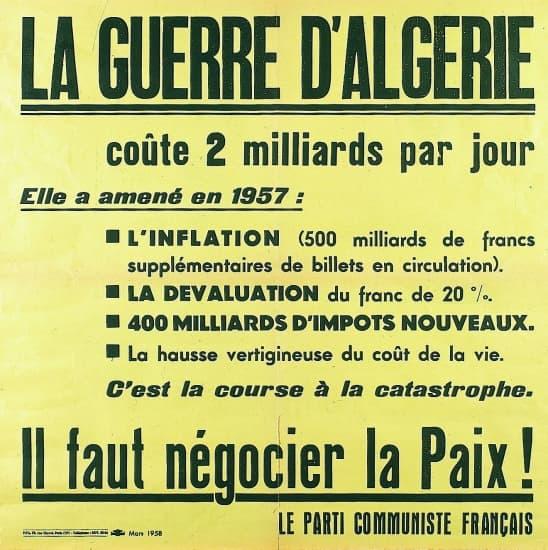 La guerre d'Algérie vue par le PCF